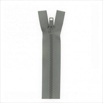 Fermeture injectée grise 80 cm séparable col 243