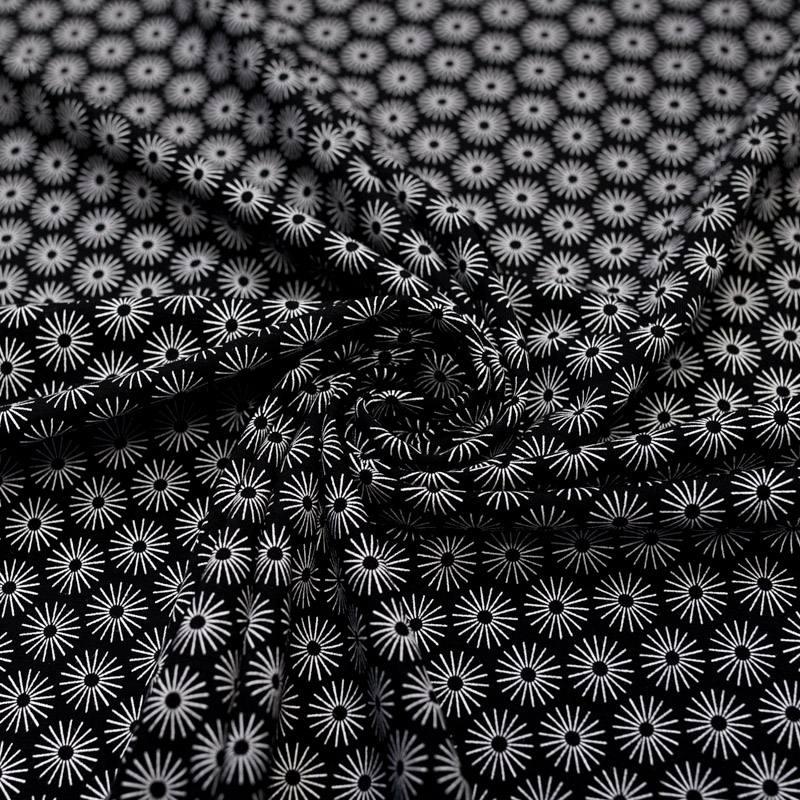Jersey noir motif umbrella blanc