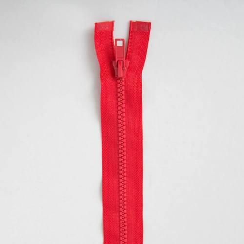 Fermeture injectée rouge 25 cm séparable col 820
