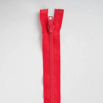 Fermeture injectée rouge 65 cm séparable col 820