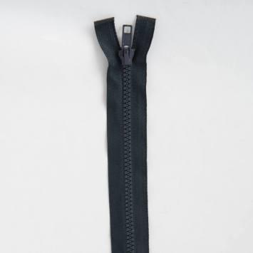 Fermeture injectée bleu foncé 35 cm séparable col 196