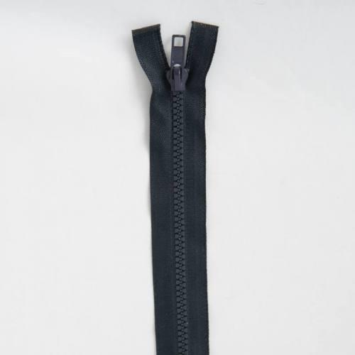 Fermeture injectée bleu foncé 75 cm séparable col 196