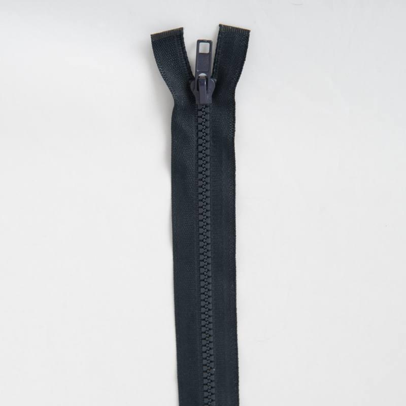 Fermeture injectée bleu foncé 80 cm séparable col 196