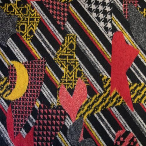 Lainage coton rouge motif coat