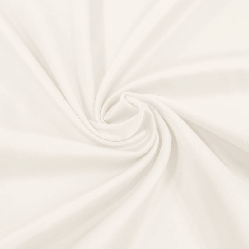 Satin microfibre supérieur extensible blanc cassé