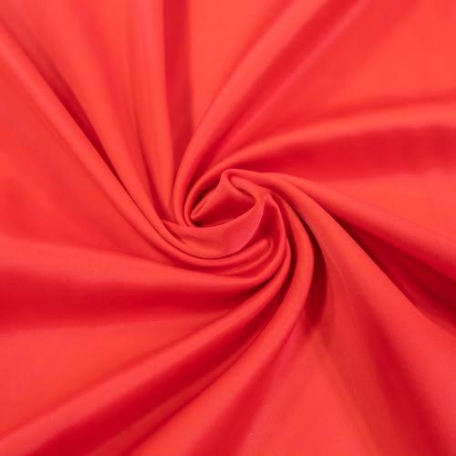Satin microfibre supérieur extensible rouge