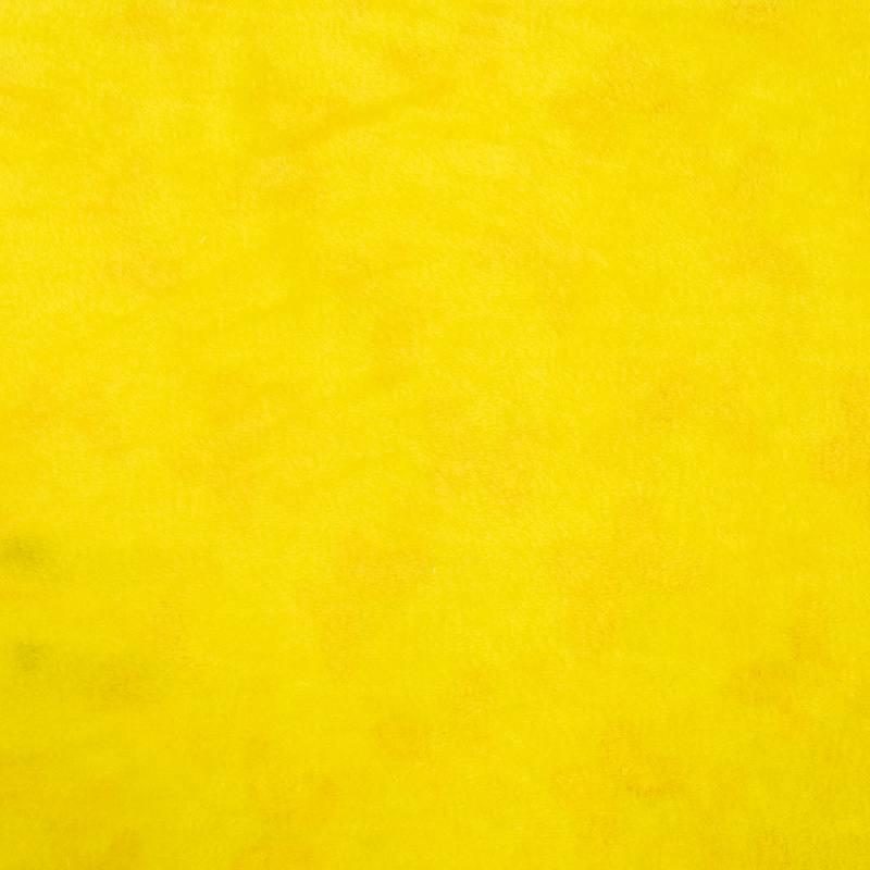 Polaire réversible vert d'eau imprimée papillon et unie jaune