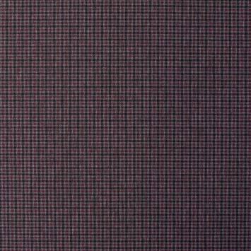 Punto milano noir motif à carreaux gris et bordeaux
