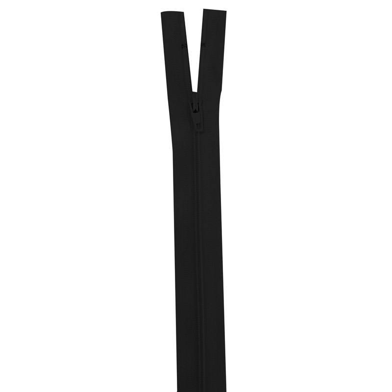 Fermeture en nylon noire 45 cm séparable col 580