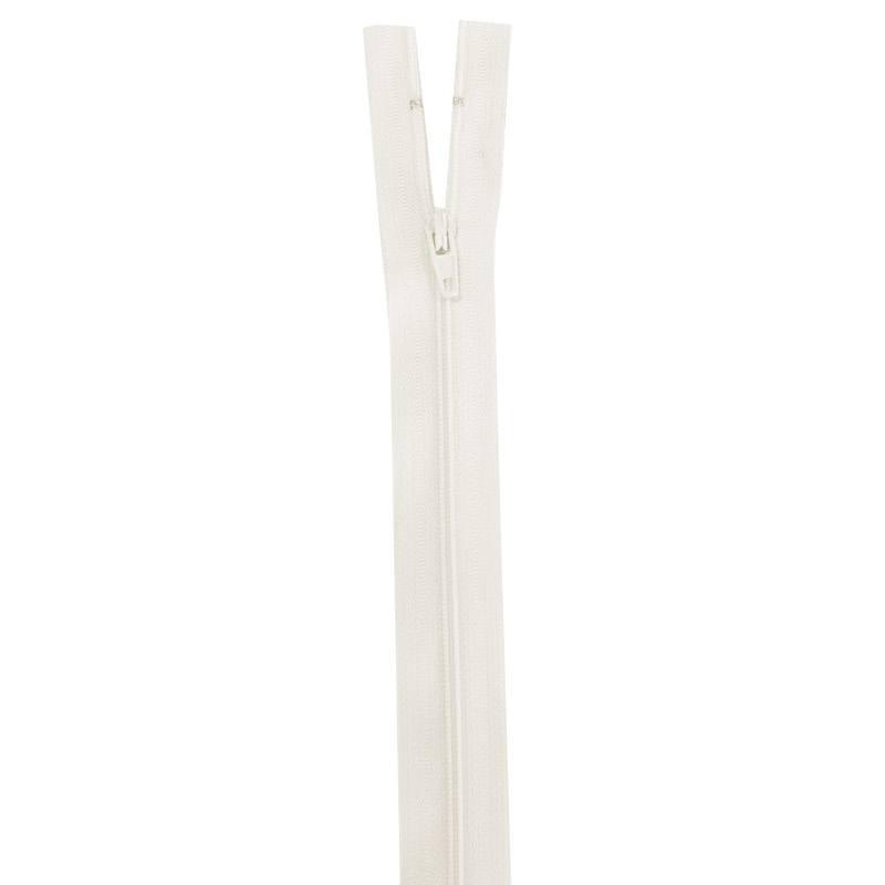 Fermeture en nylon écrue 50 cm séparable col 801