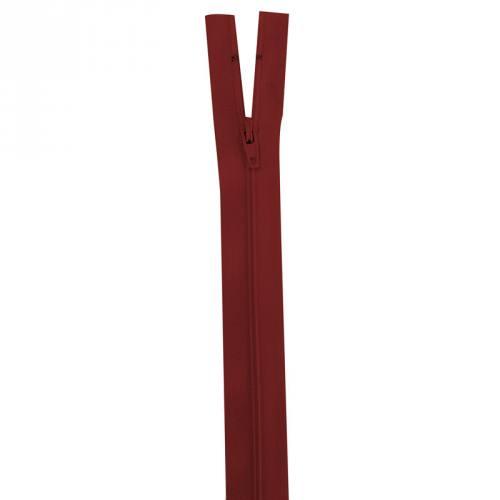 Fermeture rouge foncé 40 cm non séparable col 059