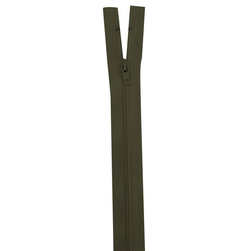 Fermeture vert militaire 25 cm non séparable col 305