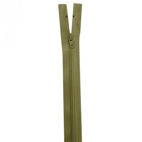 Fermeture vert militaire 20 cm non séparable col 999