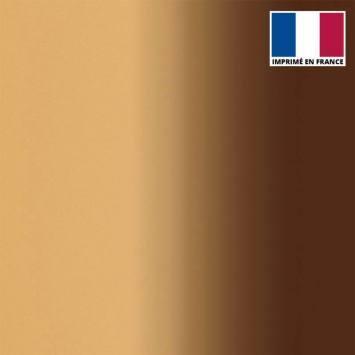 Lycra imprimé dégradé chair et marron