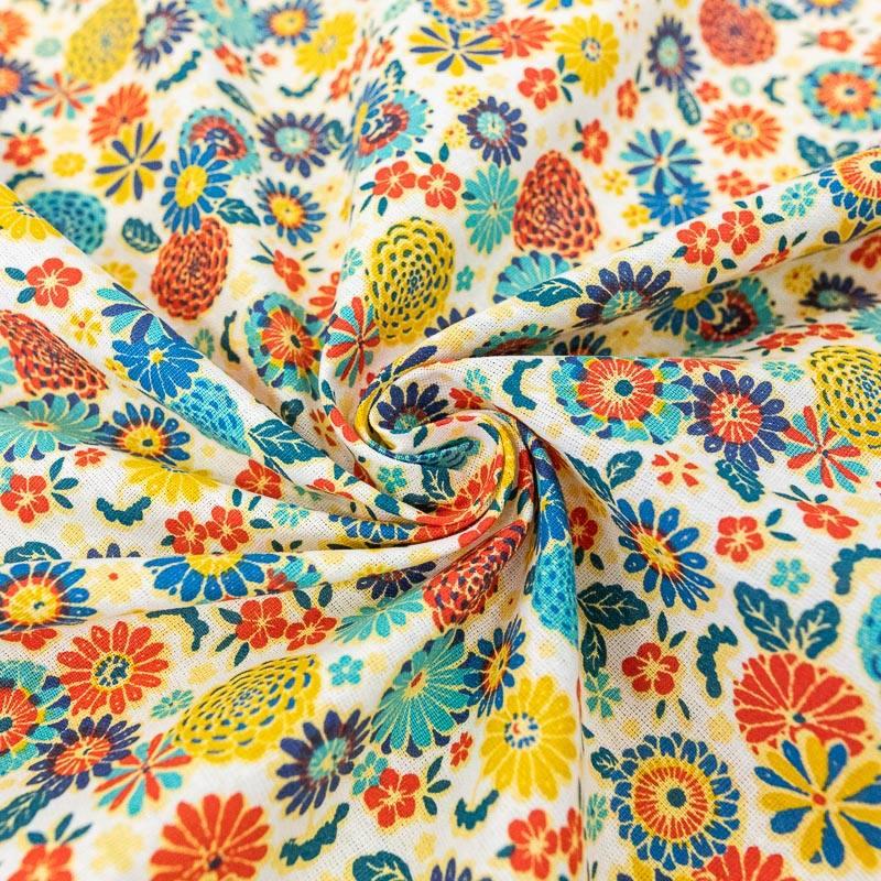 Coton écru motif misaki