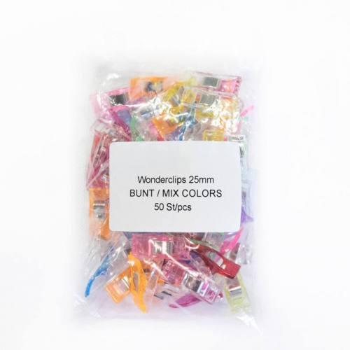 Pinces multicolores x50 pour tissu