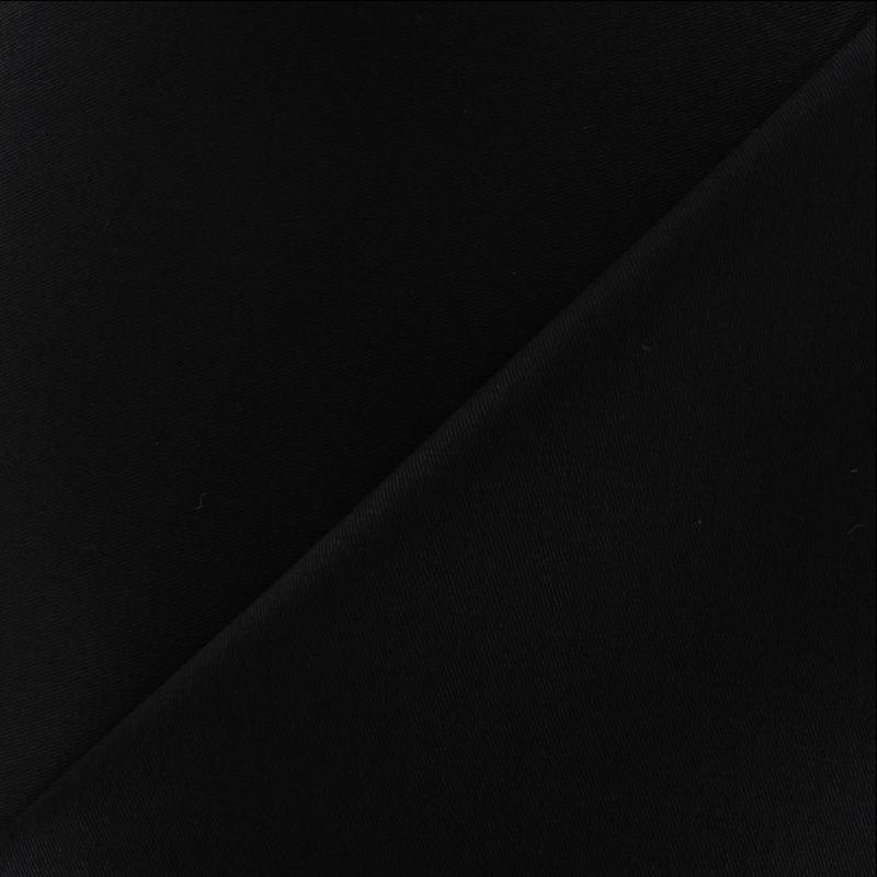 Gabardine twill extensible noire