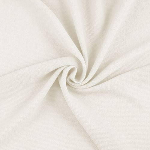 Tissu crèpe satiné blanc cassé