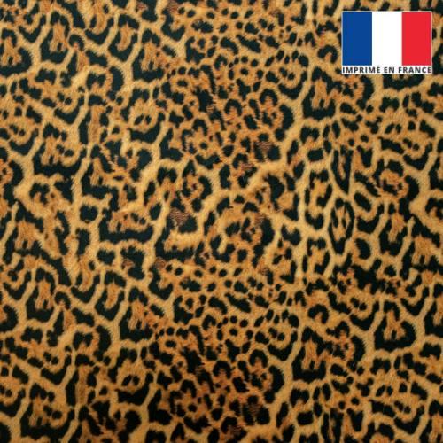 Velours motif léopard