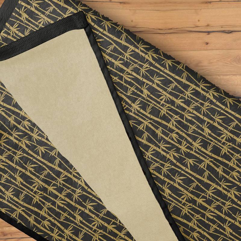 Eponge noire imprimée bambou or