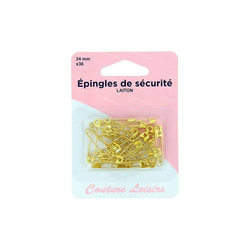 Epingles de sécurité doré 24mm X36
