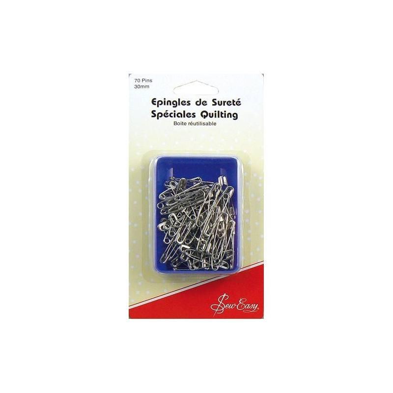 Epingles de sureté spéciales quilting 30 mm