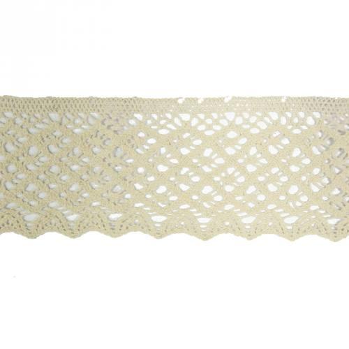 Ruban de dentelle en coton écru 8 cm