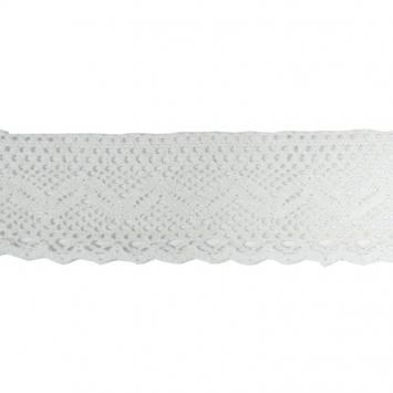 Ruban de dentelle en coton blanc 6 cm