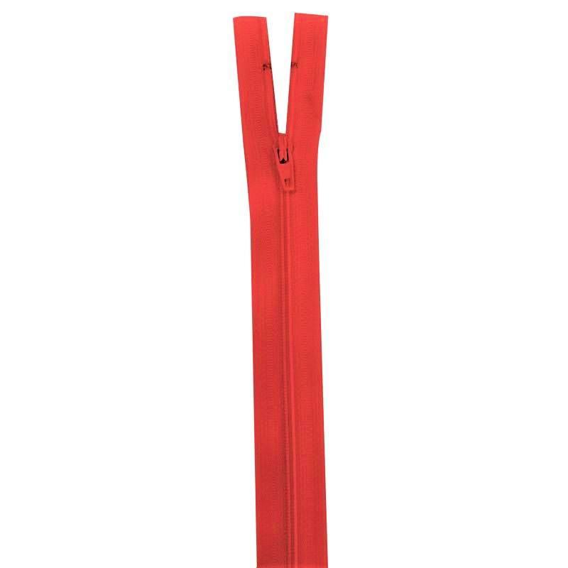 Fermeture rouge groseille 25 cm non séparable col 820