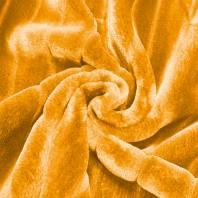 Fausse fourrure jaune poils ras et rainures