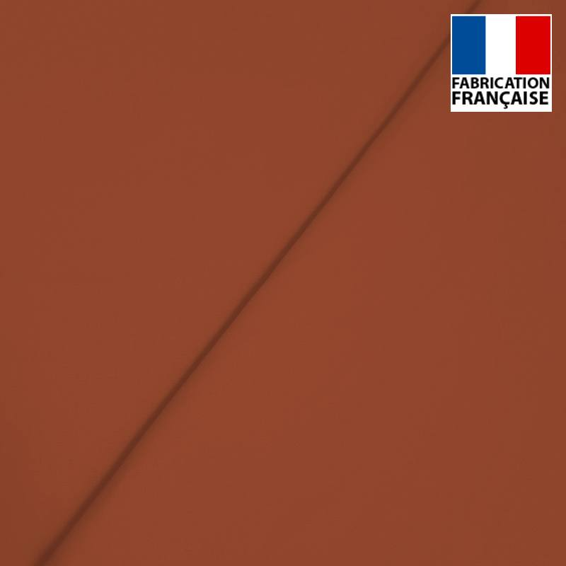 Popeline de coton mercerisé marron terracotta