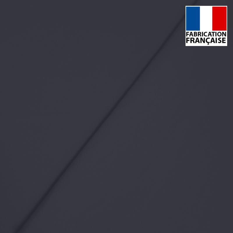 Popeline de coton mercerisé bleu marine