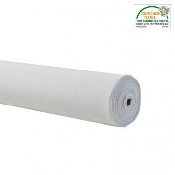 Rouleau 25m burlington infroissable Oeko-tex blanc 280cm grande largeur