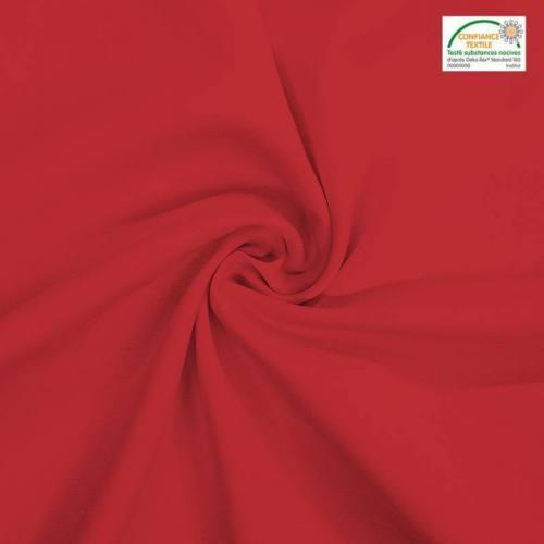 Rouleau 27m burlington infroissable Oeko-tex rouge carmin 280cm grande largeur