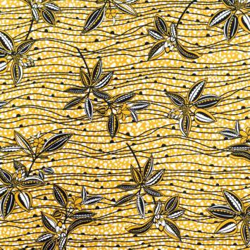 Jersey viscose ocre motif wax