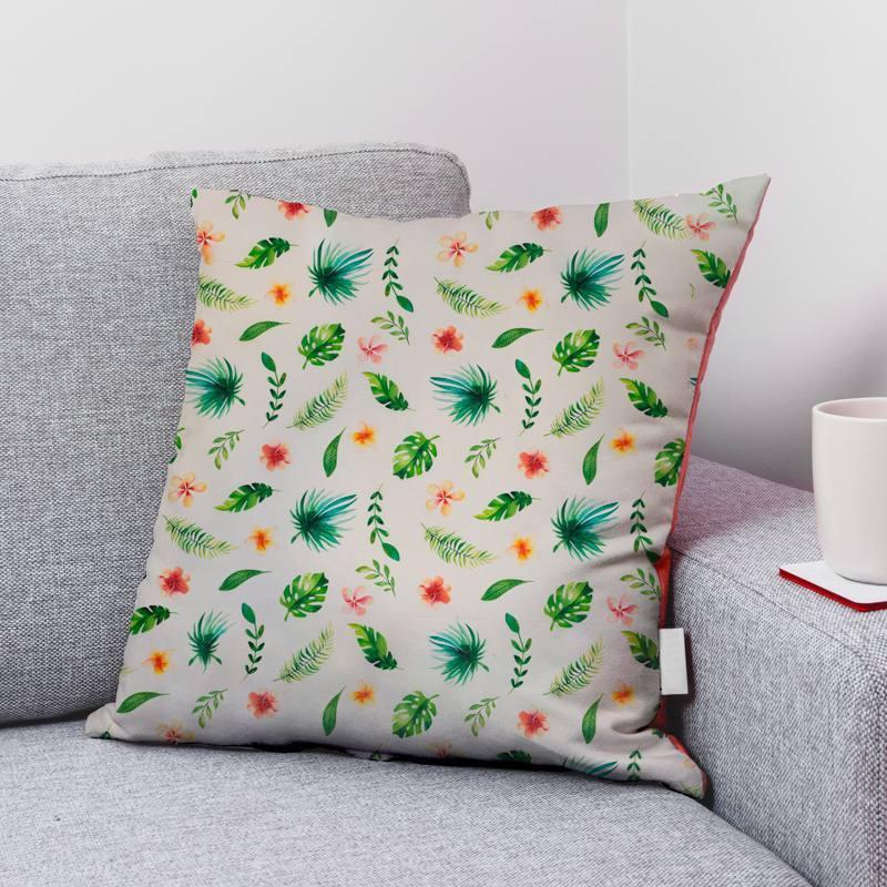 Coton écru motif fleur de tiaré