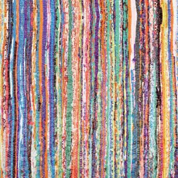 Simili cuir motif tissage multicolore
