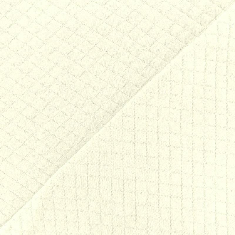 Jersey de coton matelassé ivoire
