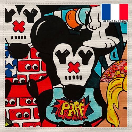 Coupon toile canvas paff street pop - Création Anne-Sophie Dozoul
