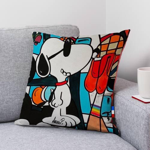Coupon toile canvas chien à lunettes - Création Anne-Sophie Dozoul