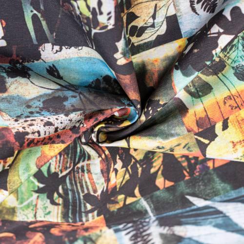 Toile polycoton grande largeur colorée imprimée abstrait