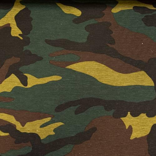 Toile polycoton grande largeur imprimée camouflage Oeko-tex