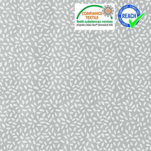 Coton gris clair imprimé grain de riz