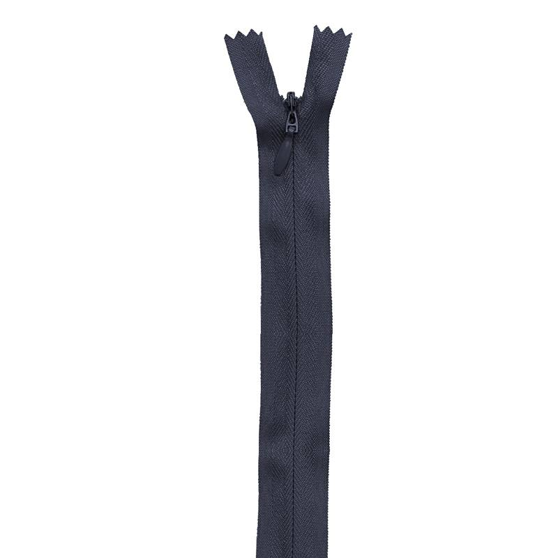 Fermeture bleu marine à glissière invisible 40 cm col 233