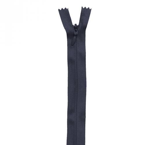 Fermeture bleu marine à glissière invisible 22 cm col 233