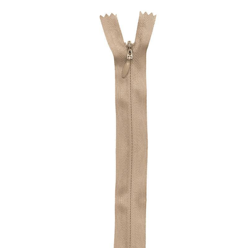 Fermeture beige à glissière invisible 40 cm col 894