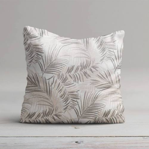 Coupon 50x67 - Jacquard jungle tibal beige et gris