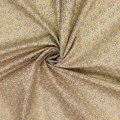 Coton or motif trèfle