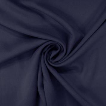 coupon - Coupon 34cm - Tissu viscose twill bleu marine