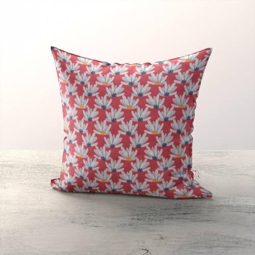 coupon - Coupon 50cm - Coton rouge foncé motif myriel